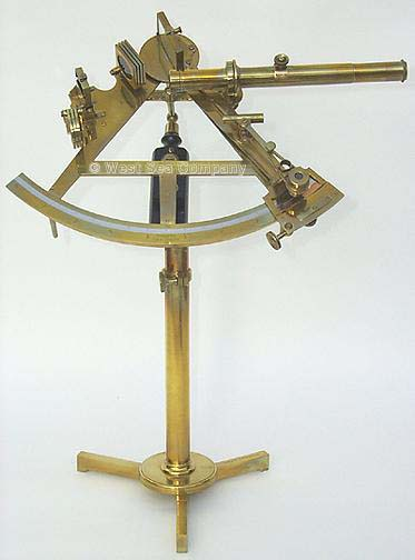 HYDROGRAPHIC SURVEY SEXTANT ON STAND