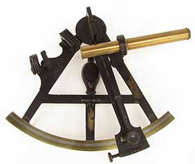Large Brass Door Knocker Shaped Like a Sextant or Mariner/'s Quadrant
